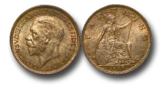 World Coins - EM438 – 	Great Britain, George V (1910-1936), Bronze Farthing, 1936