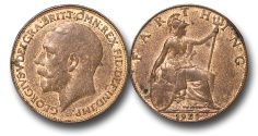 World Coins - EM624 – Great Britain, George V (1910-1936), Bronze Farthing, 1925