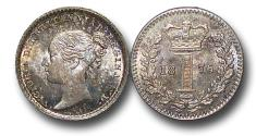 World Coins - MD1574 - Great Britain, Victoria   (1837-1901), Silver Maundy Penny, 1876