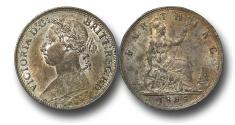 World Coins - EM588 - Great Britain, Victoria (1837-1901), Bronze Farthing, 1884