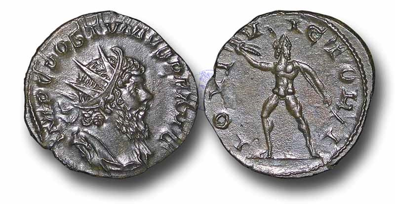 Ancient Coins - R6118 - The Gallo-Roman Empire, Postumus (A.D. 260-269), Antoninianus, 2.33g., 20mm, Colonia Agrippina mint (Cologne, Germany), A.D. 268
