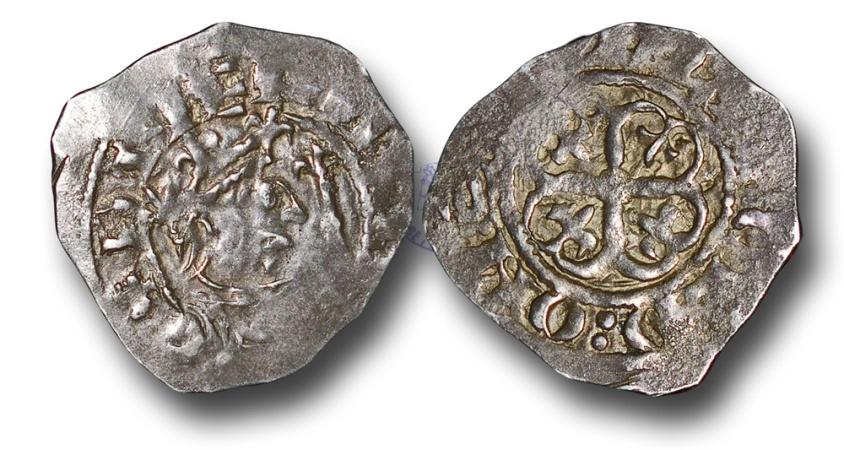 World Coins - WZ3 - ENGLAND, Stephen (1135-1154), Silver Penny, 1.47g., 21mm, Watford type (c.1136-c.1145), Exeter - Ælfræd