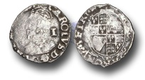 World Coins - H1088 - ENGLAND, Charles I (1625-1649), Penny, 0.42g., Group D, Hawkins 3a1, London (Tower mint)