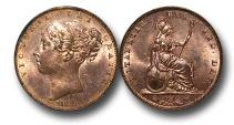 World Coins - EM320 -  Great Britain,  Victoria   (1837-1901), Copper Farthing, 1839