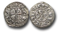 World Coins - ME718 - FRANCE, Feudal, Angoulême (Charente), Anonymous Immobilized type in the name of Louis IV, (12th-13th century), Silver Denier