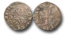 World Coins - ME632 - FRANCE, FEUDAL, Dukes of Burgundy, Hugh IV (1218-1272), Billon Denier