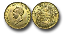 World Coins - M402 - GREAT BRITAIN, George IV (1820-1830), The Prince Frederick, Duke of York and Albany, Death, Brass Medalet, 1827