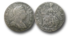 World Coins - EM106 - GREAT BRITAIN, George III (1760-1820), Copper Halfpenny,  Cast Contemporary Imitation,  1775