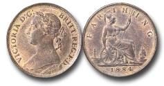World Coins - EM656 - Great Britain, Victoria (1837-1901), Bronze Farthing, 1884
