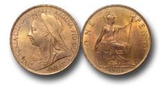 World Coins - EM253 - Great Britain, Victoria   (1837-1901), Bronze Halfpenny, 1901