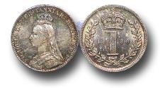 World Coins - MD1369 - Great Britain, Victoria  	(1837-1901), Silver Maundy Penny,  1888