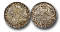 World Coins - EM445 - Great Britain, Victoria (1837-1901), Silver Maundy Twopence, 1894