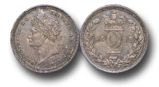 World Coins - EM380 - GREAT BRITAIN, George IV (1820-1830),  Silver Maundy Twopence, 1829