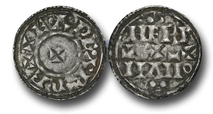 World Coins - H5301 - ENGLAND, ANGLO-SAXON, Eadgar (959-975), Penny, 0.83g., 20mm, Two-line type, Group HT 1 NE V, York mint, moneyer Hereman