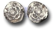 World Coins - H1091 - ENGLAND, Charles I (1625-1649), Halfpenny, 0.18g., Tower Mint, rose each side, no m.m