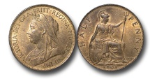 World Coins - EM453 - Great Britain, Victoria   (1837-1901), Bronze Halfpenny, 1901