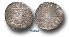 World Coins - VLC101 - ENGLAND, Henry III (1216-1272), Penny, 1.44g., Voided Long Cross Coinage, Class 5g, (1251-1272), Nicole - Canterbury