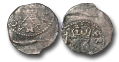 """World Coins - H1087 - ENGLAND, Charles I (1625-1649), Contemporary Forgery? of """"Richmond"""" Farthing"""