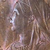 World Coins - JMS9 - GREAT BRITAIN, Victoria (1837-1901), Bronze Halfpenny, 1897 High Sea Level
