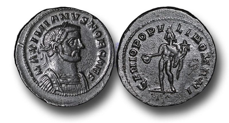 Ancient Coins - WZ58 – Galerius as Caesar (A.D. 293-305), Bronze Follis, 10.40g., 28mm, London mint, c. A.D. 300 onward, Group I, Class II(a)