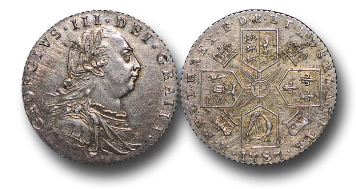 World Coins - MD658 - GREAT BRITAIN, George III (1760-1820), Sixpence, 1787