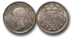 World Coins - EM613 - Great Britain, Victoria (1837-1901), Silver Maundy Penny, 1880
