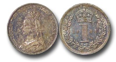 World Coins - EM597 - Great Britain, Victoria (1837-1901), Silver Maundy Penny, 1888