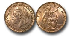 World Coins - EM458 – Great Britain, George V (1910-1936), Bronze Farthing, 1936