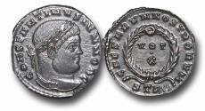 Ancient Coins - R18098 - Constantine II, as Caesar (A.D. 317-337), Bronze Follis, 3.08g., 19mm, Treveri mint, UNC