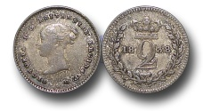 World Coins - EM373 - Great Britain, Victoria   (1837-1901), Silver Maundy Twopence,  1838
