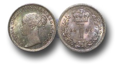 World Coins - EM395 - Great Britain, Victoria   (1837-1901), Silver Maundy Penny,  1884