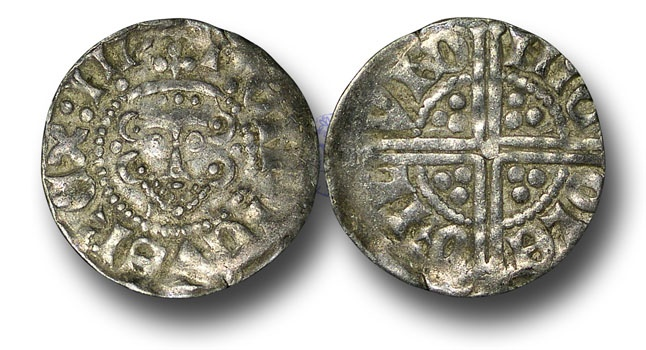 World Coins - VLC690 - ENGLAND, Henry III (1216-1272), Penny, 1.46g., Voided Long Cross Coinage, Class 3c, (1248-1250), Nicole - London