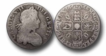 World Coins - EM4 - ENGLAND, Charles II (1660-1685), Milled coinage, Silver Crown, 1668
