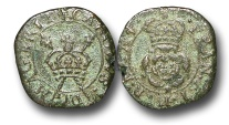 World Coins - EM229 - ENGLAND and IRELAND, Charles I (1625-1649), Copper 'Rose' Farthing