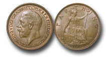 World Coins - EM483 – Great Britain, George V (1910-1936), Bronze Farthing, 1935