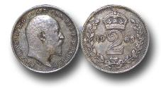 World Coins - MD1127 – Great Britain,  Edward VII (1901-1910), Silver Maundy Twopence, 1903