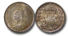 World Coins - EM591 - Great Britain, Victoria (1837-1901), Silver	Threepence, 1887