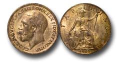 World Coins - EM477 – Great Britain, George V (1910-1936), Bronze Farthing, 1919