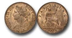 World Coins - EM133 - GREAT BRITAIN, Victoria   (1837-1901), Bronze Farthing, 1874 H, struck under contract by Ralph Heaton & Sons, Birmingham