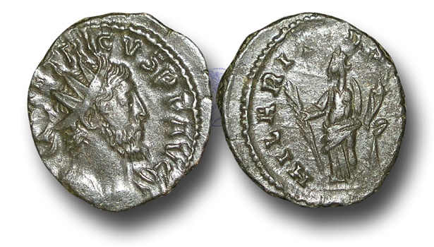 Ancient Coins - BR392 - The Gallic Empire, Tetricus I (A.D. 270-273), AE Antoninianus,  ex Braithwell Hoard, England, 2002.