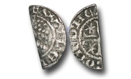 World Coins - SZ211 - SCOTLAND, William I 'The Lion' (1165-1214), Cut Halfpenny, 0.60g., Short Cross and Stars coinage, Phase A (1195 - c.1205), Hue? - Edinburgh