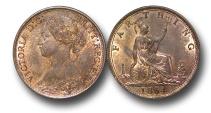 World Coins - EM315 -   Great Britain,  Victoria   (1837-1901), Bronze Farthing, 1864, normal 4
