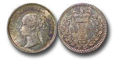 World Coins - EM594 - Great Britain, Victoria (1837-1901), Silver Maundy Penny, 1869