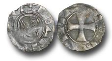 World Coins - CS1123 - Crusader States, Principality of Antioch, Bohemond III minority (1149-63), under regency of Constance and Renaud de Châtillon, Bare Head Billon Denier