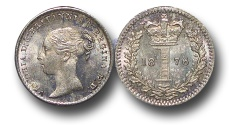 World Coins - EM500 - Great Britain, Victoria   (1837-1901), Silver Maundy Penny,  1876