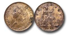 World Coins - EM609 - Great Britain, Victoria(1837-1901), Bronze Farthing, 1885