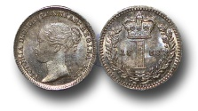 World Coins - EM359 - Great Britain, Victoria   (1837-1901), Silver Maundy Penny,  1884