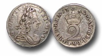 World Coins - EM49 - GREAT BRITAIN,   George I    (1714-1727), Silver Twopence, 1723
