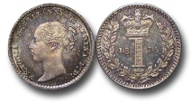 World Coins - EM611 - Great Britain, Victoria (1837-1901), Silver Maundy Penny, 1875