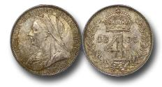 World Coins - MD1363 - Great Britain, Victoria (1837-1901),Silver Maundy Fourpence, Old Head,1893